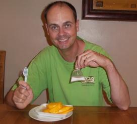 """ich liebe es: """"sticky rice with mango and coconut sauce"""" (der beste Nachtisch der Welt)"""