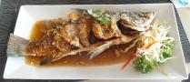 ein frittierter Fisch