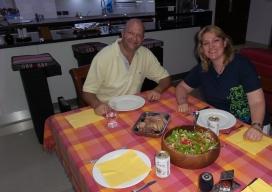 Abendessen mit Mark (Lammkeule) - lecker!