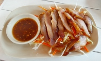 geröstetes Schweinefleisch mit Chilisauce