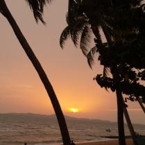 der Sonnenuntergang überzeugt