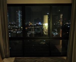 Blick aus unserem Schlafzimmerfenster bei Nacht