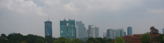 Blick über die Stadt, kein dolles Fotowetter :-(