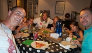 Zuhause bei der Familie - zusammen mit den Sielings, die hier seit 7 Jahren leben