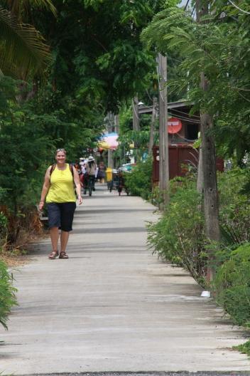 und wir einen Spaziergang über die Insel