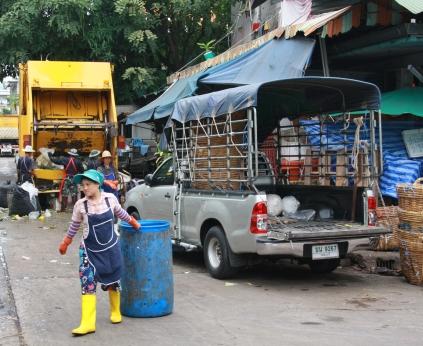 Müllwegräumen im großen Stil