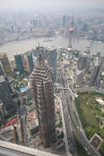 Blick von oben aus dem World Financial Center (492m)