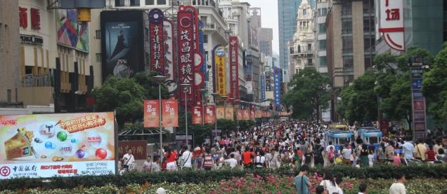 Da ist was los auf den Straßen von Shanghai
