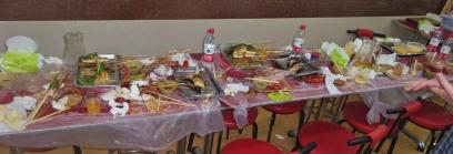 Der Tisch danach - ein Schlachtfeld
