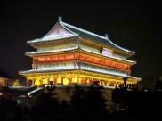 Der Drum Tower bei Nacht