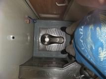 luxuriöse Toiletten (nicht das einzige Mal, dass wir diesen Genuss hatten...)