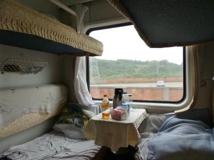 Fahrt nach Chengdu mit dem Nachtzug (16 interessante Stunden...)