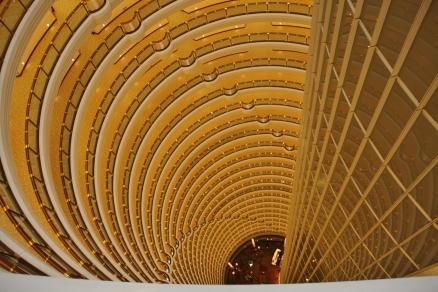 Hyatt im Jin Mao Tower - da wird einem wirklich schwindelig...
