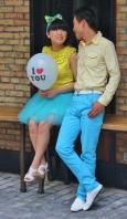 Hochzeitspaar - farblich gut abgestimmt (beim Fototermin)