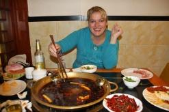 In Sichuan ein Muss: Hotpot (der war vielleicht scharf....bbooa) - danach waren wir richtig fertig mit der Welt und hatten ordentlich Hitzewallungen