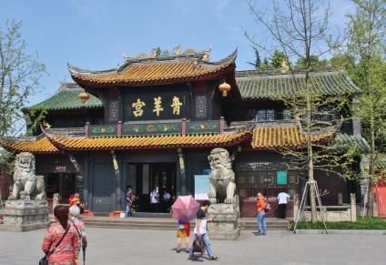 """taoistischer """"Quingyang Temple"""" ... und wir haben Glück mit dem Wetter"""