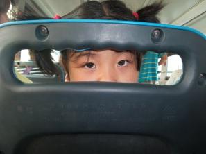 beobachtet beim Busfahren