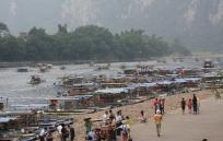 Bamboo-Boat-Trip auf dem Lijian River (kaum Betrieb...)