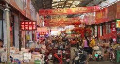 zurück in Guilin: Lebensmittel-Großmarkt