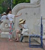 wie auch in China - Smartphone und Selfie, immer und überall