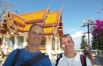 """es war auch an diesem Tag sehr war - gefallen hat es uns trotzdem am """"Wat Phra That Doi Suthep"""""""