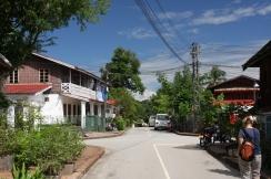 typische Straße in Luang Prabang