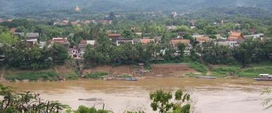 Luang Prabang von der anderen Mekong-Seite