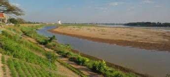 Der Mekong - eine echt langweilige Promenade