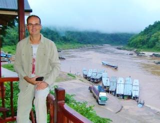 Pakbeng - Mekong mit ein paar Slow Baods