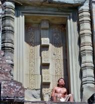 Ein Khmer macht eine kleine Pause