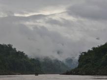 Weiter geht die Reise den Mekong hinunter - es klar etwas auf