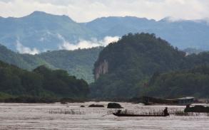 man sieht - der Mekong hier oben ist kein ganz einfach zu befahrendes Gewässer