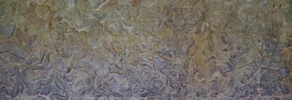 Die Wände im Tempel erzählen die Geschichte