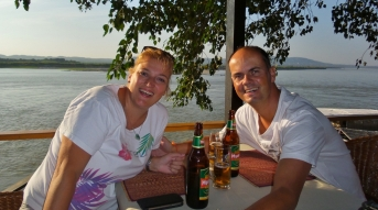 Sundowner am Irrawaddy