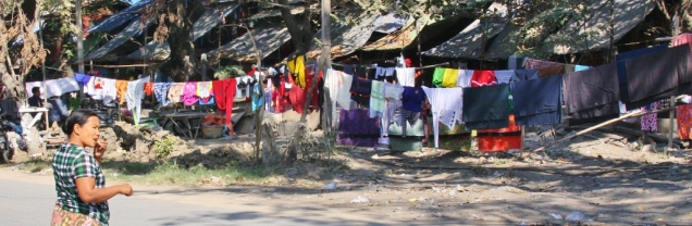 Wäschetrockenen, auch hier findet es immer und überall statt
