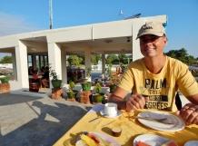 Frühstück auf dem Dach des Hotels