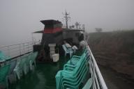 Mit dem Schiff auf dem Irrawaddy von Mandalay nach Bagan - wir haben erst etwas Pech, viel Nebel - später wurde es besser