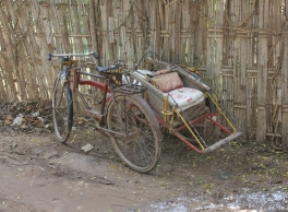 Fahrrad Rikscha - neuere Modelle gibt es nicht