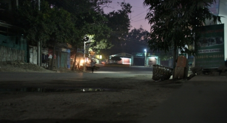 nachts ist nicht viel los auf den Straßen von Bagan