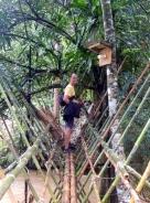 Die Brücke zu unserer Unterkunft