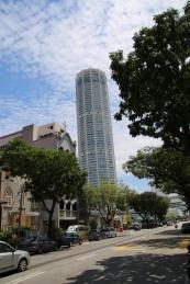 """Georgetown - der """"Komta""""-Turm, ein wichtiger Orientierungspunkt in der Stadt"""