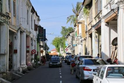 Georgtown im Bereich, wo die UNESCO das Weltkulturerbe schützt