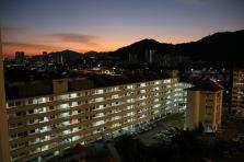 Blick aus unserem Appartement bei Sonnen-Untergang