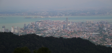 Georgetown - Blick vom Penang Hill
