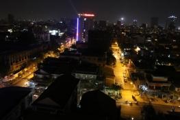 Blick von unserem Hotel bei Nacht