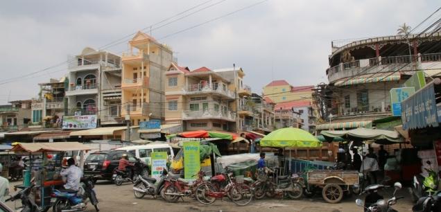Ein lokaler Markt, auch hier: eine wilde Sache