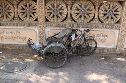 Ein Fahrrad-Rikscha