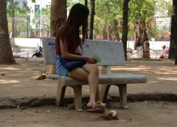 diese Hausschuhe sind der Hit in Phnom Penh