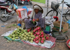 Dragon fruit: Sieht toll aus (hat leider aber kaum einen eigenen Geschmack).