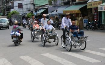 """Auf diesen """"typischen vietnamesischen Fahrrädern"""" sind nur Touristen unterwegs :-)"""